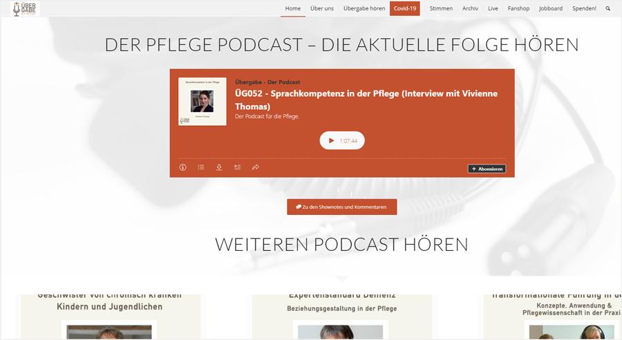 Übergabe – Der Podcast für die Pflege