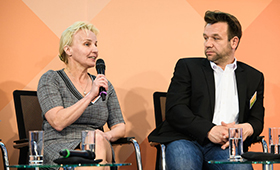 Bianca Rosenhagen und Carsten Zimpel auf der 2. Fachtagung der Initiative Klischeefrei