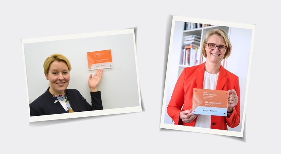 Portraits der Bundesministerinnen Anja Karliczek und Dr. Franziska Giffey
