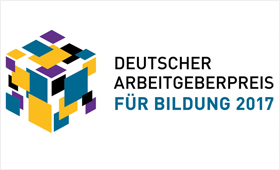 Logo Deutscher Argbeitgeberpreis für Bildung 2017