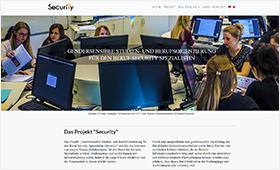 """Screenshot der Website des Projekts """"Security"""" der TH Wildau"""