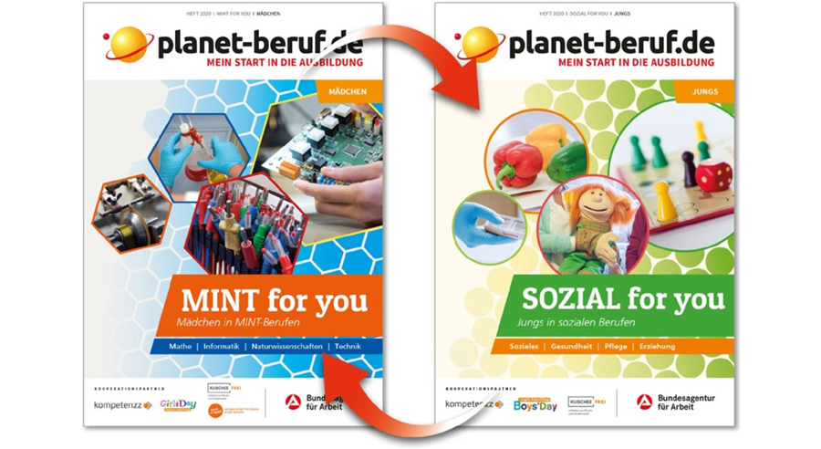 "Cover des Wendehefts ""MINT & SOZIAL for you"" (Ausgabe 2020)"