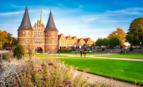 Holstentor in der Hansestadt Lübeck