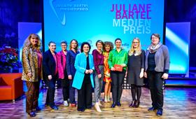 Elke Büdenbender beim Juliane-Bartel-Medienpreis 2019