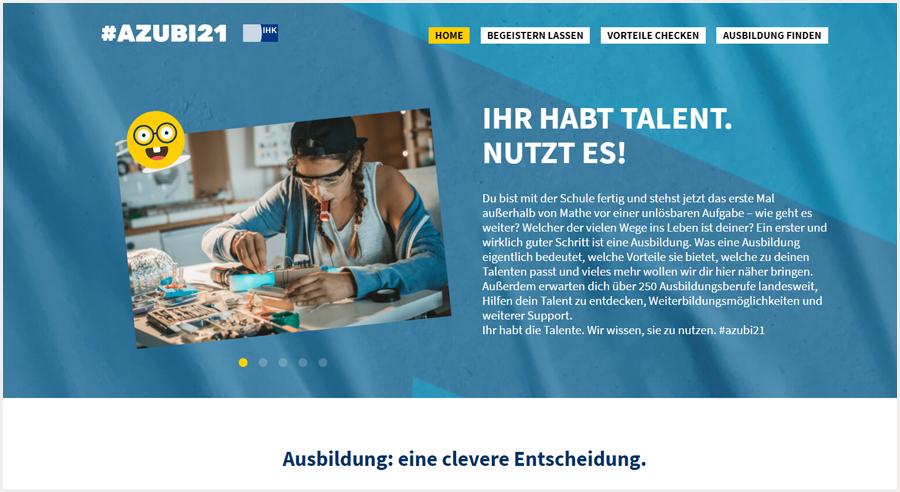 """""""Nutze dein Talent"""" – Berufsorientierung online"""
