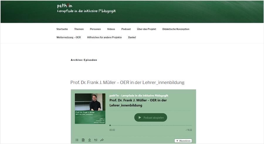 Path²in – Lernpfade in die inklusive Pädagogik