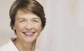 Elke Büdenbender, Ehefrau des Bundespräsidenten, im Schloss Bellevue.
