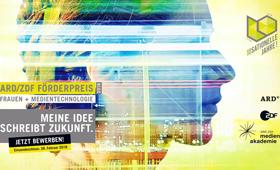"""Plakat zum ARD/ZDF-Förderpreis """"Frauen + Medientechnologie 2018"""""""
