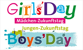 oben Logo Girls'Day, unten Logo Boys'Day