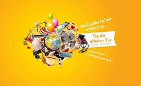 Plakat zum Tag der offenen Tür des Bundesministerium für Familie, Senioren, Frauen und Jugend 2017