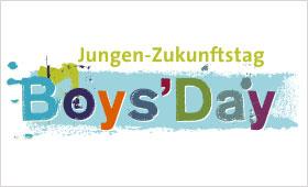 Logo des Jungen Zukunftstags BoysDay in bunten Farben
