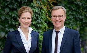 Foto der Vorstandsmitglieder Angelika Dingens (links) und Michael Fritz (rechts)