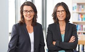 Porträt der Geschäftsführung des Forschungsinstitutsj Betriebliche Bildung, der neuen Partnerin der Initiative Klischeefrei: Dr. Iris Pfeiffer und Susanne Kretschmer