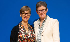 Porträt von Geschäftsführerinnen Mellies und Struwe