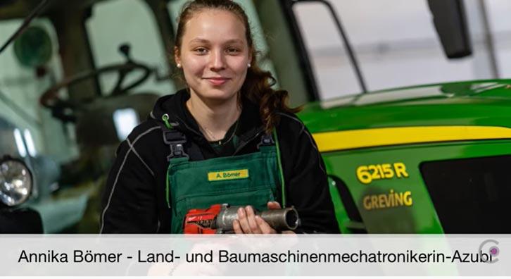 Land- und Baumaschinenmechatronikerin